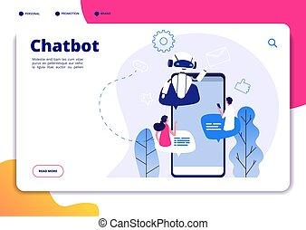chatbot., robotics, mówiąc, aj, chatterbot, odpowiadając, ...