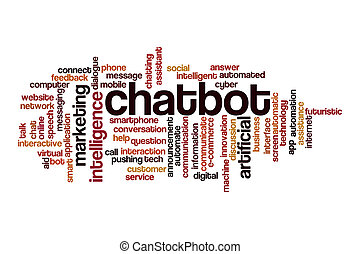 Chatbot word cloud concept