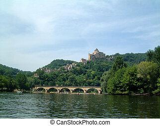 Chateau above Dordogne bridge