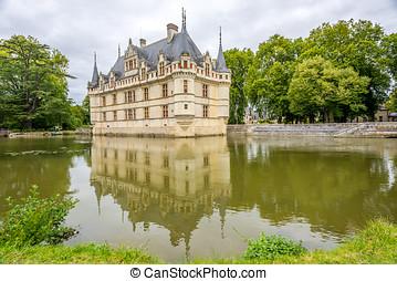 Chateau Azay le Rideau with moat