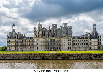 Chateau Chambord with moat