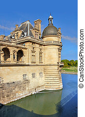 chateau Chantilly  - Detail of chateau Chantilly, France