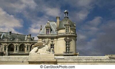 chateau, chantilly, france, de