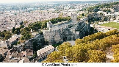 chateau, communauté, moyen-âge, beaucaire, château, vue ...