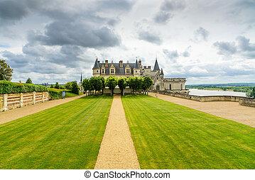 Chateau de Amboise medieval castle, Leonardo Da Vinci tomb. Loire Valley, France
