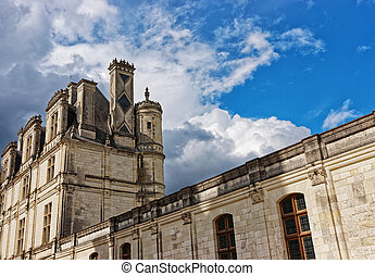 Chateau de Chambord palace at Loire valley France
