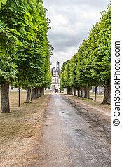 Chateau de Chambord, royal medieval castle. Loire Valley, France,