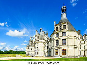 Chateau de Chambord, royal medieval french castle. Loire Valley, France, Europe. Unesco heritage site.