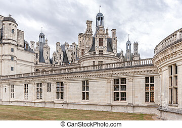Chateau de Chambord, royal medieval castle. Loire Valley, France,