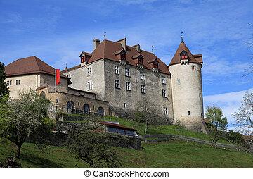 chateau, de, gruyeres, schweiz