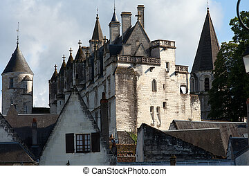 Chateau de Loches in Loire Valley, France