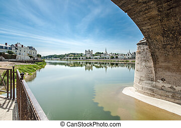 Chateau de Saumur, Loire Valley, France. Panoramic