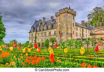 Chateau de Villandry, a castle in the Loire Valley, France