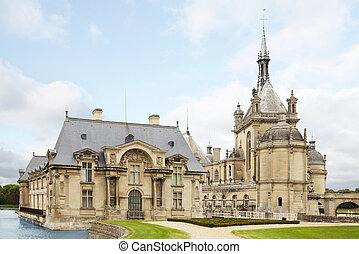 chateau, frankrijk, -, kasteel, chantilly