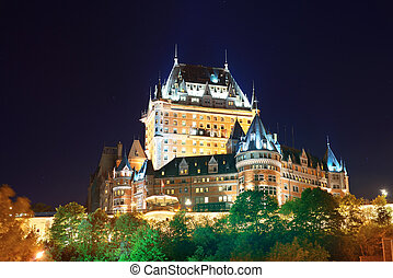 Chateau Frontenac at night  Quebec City