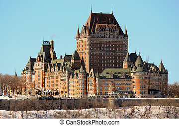 Chateau Frontenac in Quebec City, Canada - The luxurious...