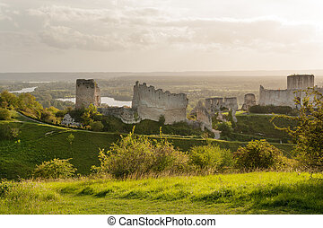 Chateau Gaillard, ruined famous castle of Richard the...