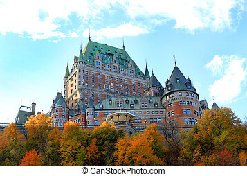 Chateau in Quebec city, Canada - Beautiful architectural...