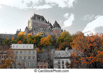 Chateau in Quebec city, Canada - Beautiful color manipulated...