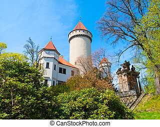Chateau Konopiste on sunny day