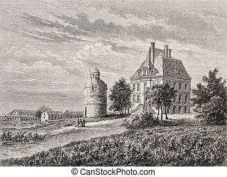 Chateau La Tour - Antique illustration of Chateau La Tour...