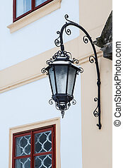 Chateau lamp on wall