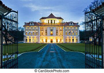 chateau, liblice, hotel