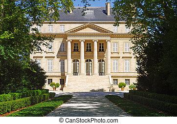 chateau, margaux, bordeaux, frankreich