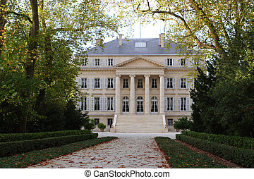 chateau Margaux - estate Chateau Margaux. Frontward view
