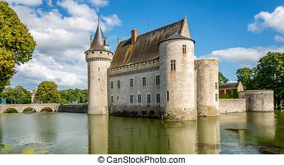 Chateau of Sully sur Loire with bridge