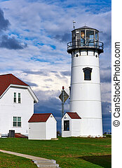 Chatham Lighthouse at Cape Cod - Chatham Lighthouse, built...