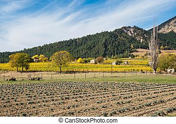 Chatillon en Diois village in Vercors Natural Regional Park, Diois, Drome, France