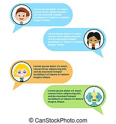 chating, chatbot, benutzer
