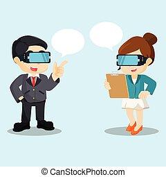 chating, virtuelle wirklichkeit
