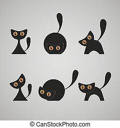 chats, ensemble, noir