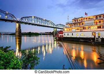 chattanooga, 테네시, 미국, riverfront.