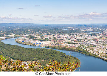 chattanooga, contorno, tennessee