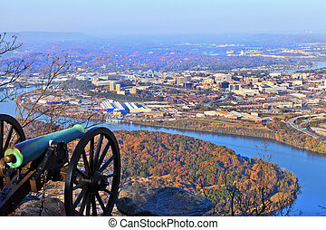 Chattanooga in Autumn - View of Chattanooga from Lookout...