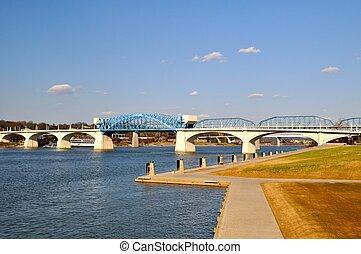 chattanooga, riverfront, ponte