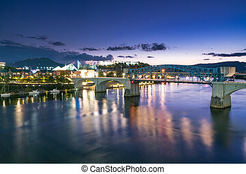 Chattanooga, Tennessee Night Skyline