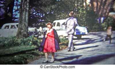 CHATTANOOGA, USA - 1953: Visit to uncle - Original vintage...