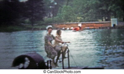 CHATTANOOGA, USA - 1954: Paddle boat - Unique vintage 8mm...