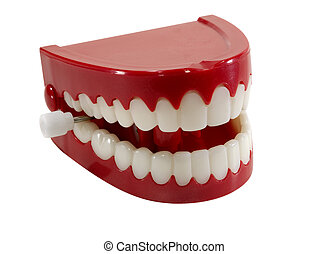 Chatter Teeth - Isolated Chattering Teeth - Clipping Path...