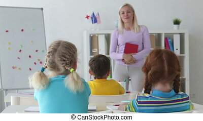 Chatting at lesson