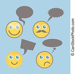 Chatting Smiley Set