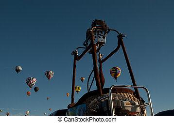 chaud, ballons, air
