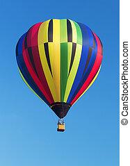 chaud, balloon, coloré, air