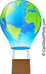 chaud, balloon, globe, air