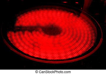 chaud, brûleur