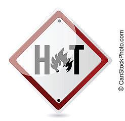 chaud, conception, illustration, signe